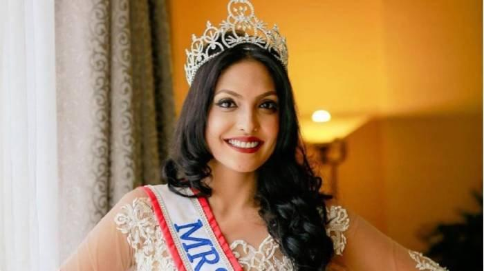 Profil Caroline Jurie, Mrs World 2020 yang Copot Paksa Mahkota Mrs Sri Lanka 2020 Pushpika De Silva