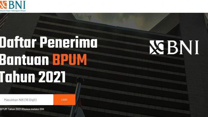 Cek BPUM melalui //banpresbpum.id