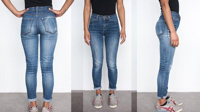 Ilustrasi menggunakan celana jeans ketat