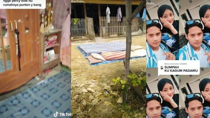 VIRAL Ekspresi Gadis Cantik Diajak ke Rumah Pacar di Kampung yang Masih Berdinding Anyaman Bambu