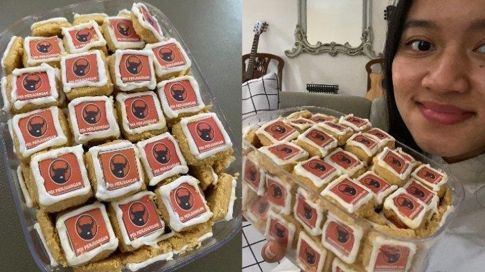 Cerita seorang perempuan yang mengaku mendapat kue lebaran bermotif PDIP viral. Ini ceritanya
