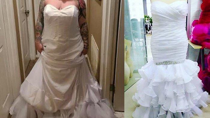 Cerita wanita membeli gaun pengantin online