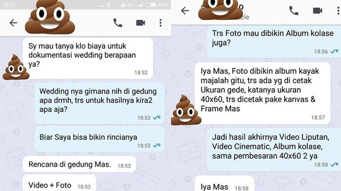 Viral Chatting Fotografer & Orang Mau Nikah, Jadi Kesal Karena Nawar Kebangetan, Bisa Free Kalau. .