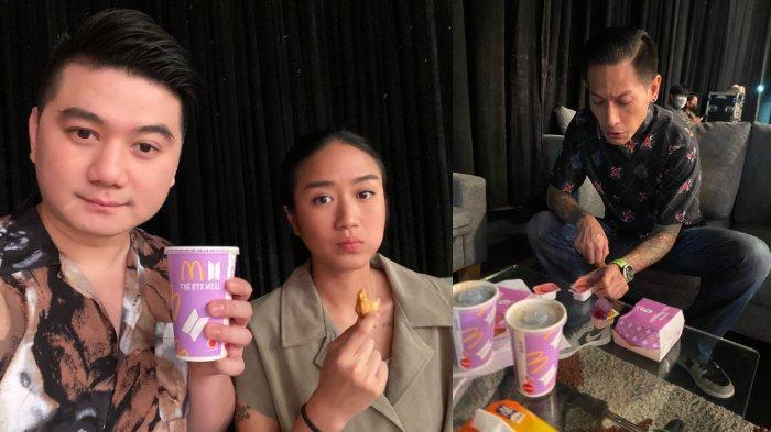 Chef Arnold Poernomo ajak Renatta Moeloek dan Juna nyicip BTS Meal.