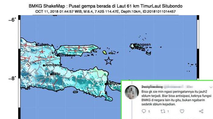 Akun BMKG Disalahkan karena Terlambat Infokan Gempa, Jawaban Kocak Admin Jadi Sorotan Netizen