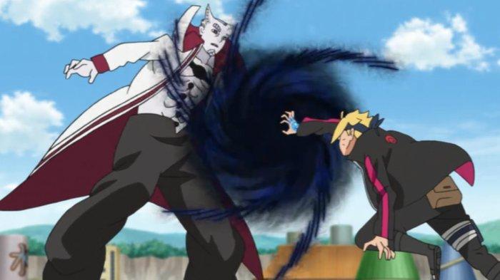 Cuplikan anime Boruto, melawan Isshiki Otsutsuki.