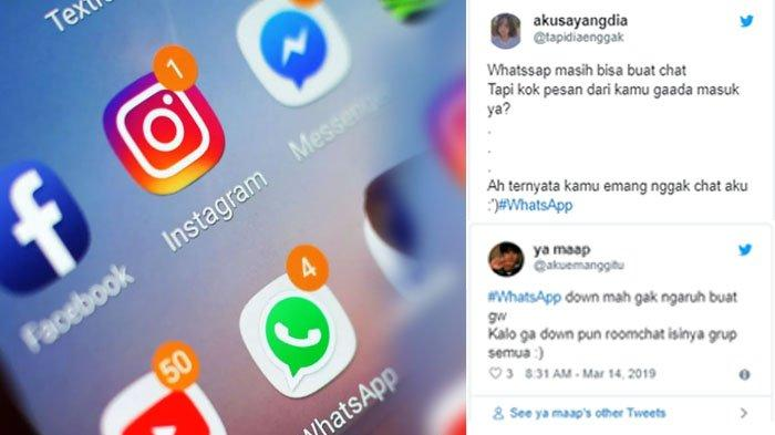 Instagram dan Whatsapp Down Lagi, Keluh Kesah Banjir di Twitter