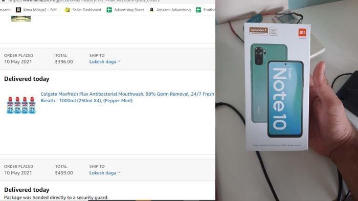 Cerita Viral Pria Beli Obat Kumur Malah Dapat Kiriman Redmi Note 10 dari Amazon, Tertukar?
