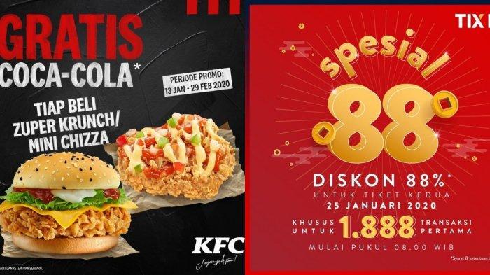 Daftar Promo Menarik Tahun Baru Imlek 2020, dari Watsons, KFC, Burger King hingga Diskon Nonton Film