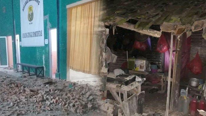 Dampak Pasca Gempa Banten, Sejumlah Bangunan di Sukabumi, Pandeglang dan Lebak Alami Kerusakan
