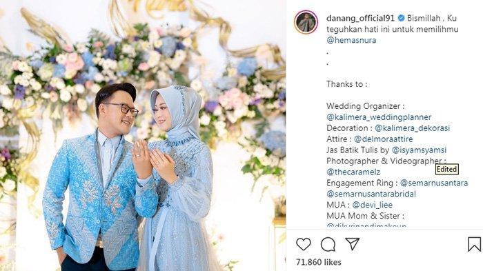Danang DA resmi melamar sang kekasih, Hemas Nura.