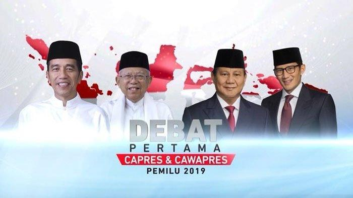 SEDANG BERLANGSUNG Live Streaming Debat Capres 2019 - Jokowi Ma'ruf Amin vs Prabowo Sandi, Dimulai!