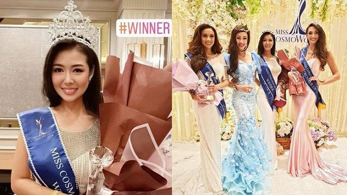 Tak Tersorot, Wakil Indonesia Delvia Wirajaya Menang Juara Miss Cosmo World 2018, Kalahkan 26 Negara