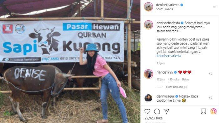 Aksi Kocak Denise Chariesta, Sempat Pamer Beli Sapi Kurban Berukuran Jumbo, 'Padahal Aslinya Ini'