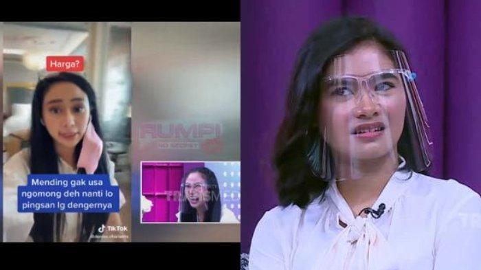 Denise Chariesta dan Salshadilla Juwita di acara Rumpi Trans TV