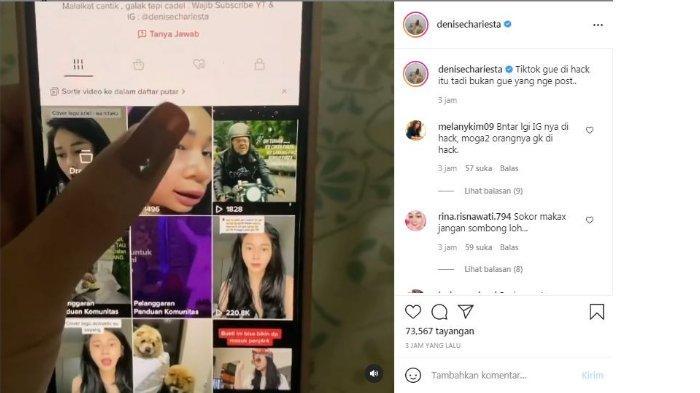 Denise Chariesta kabarkan akun TikTok-nya dihack
