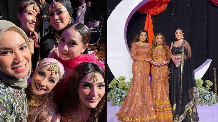 ADU GAYA Para Seleb Hadiri Henna Night Aurel, Bak Artis Bollywood, dari Nagita Slavina hingga Millen