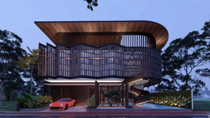 Desain rumah baru Ayu Ting Ting.