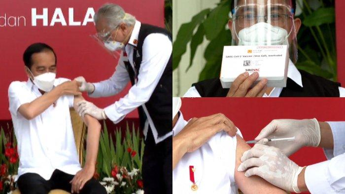Detik-detik Presiden Joko Widodo disuntik vaksin Sinovac