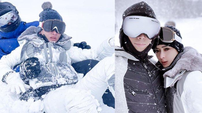 NIAT Tolong Syahrini, Reino Barack Malah Terperosok di Salju, Tertangkap Kamera Berakhir Adu Bibir