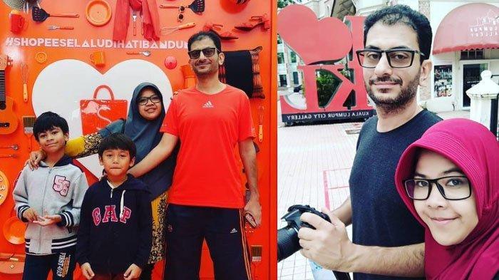 Kolase TribunStyle.com/ Instagram @dian_amr_channel Dian bersama suami dan kedua anaknya.