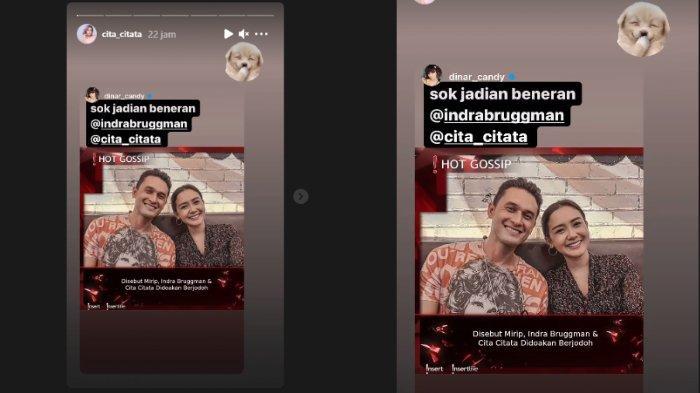 Dinar Candy beri reaksi soal kedekatan Indra Bruggman dan Cita Citata