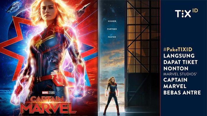 Film Captain Marvel Tayang Perdana Hari ini, Dapatkan Diskon Tiket 50 Persen dari TIX, Ini Syaratnya