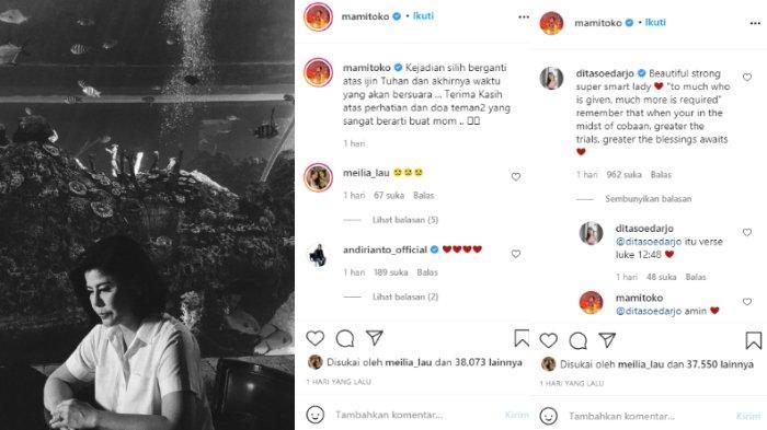 Dita Soedarjo tinggalkan komentar di unggahan ibunda Bams eks Samsons