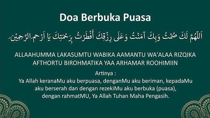 DOA BUKA PUASA Lengkap Latin & Artinya Ramadan 1440H/2019 'Allahumma Laka Shumtu . . '