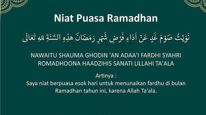 Doa Niat Puasa dan Buka Puasa Ramadan Berserta Latin & Arti Bahasa Indonesia, Ini Bacaan yang Benar