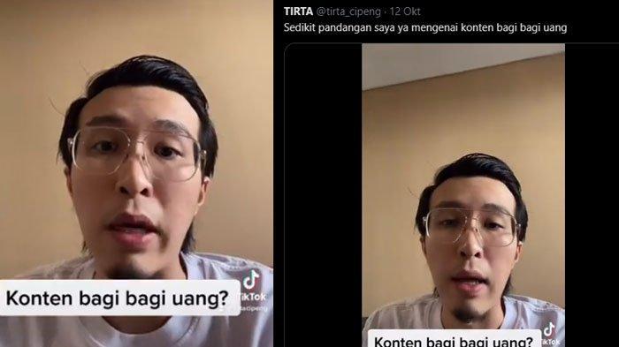 Dokter Tirta Mandira Hudhi atau dr. Tirta sentil aksi YouTuber yang suka bikin konten bagi-bagi duit.