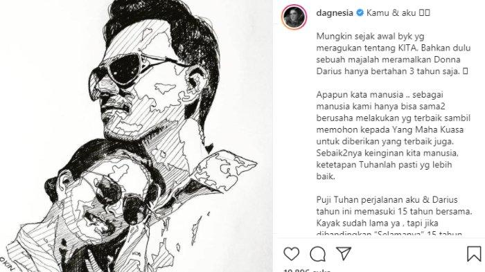 Donna Agnesia bahas soal pernikahannya dengan Darius Sinathrya diramal tak langgeng