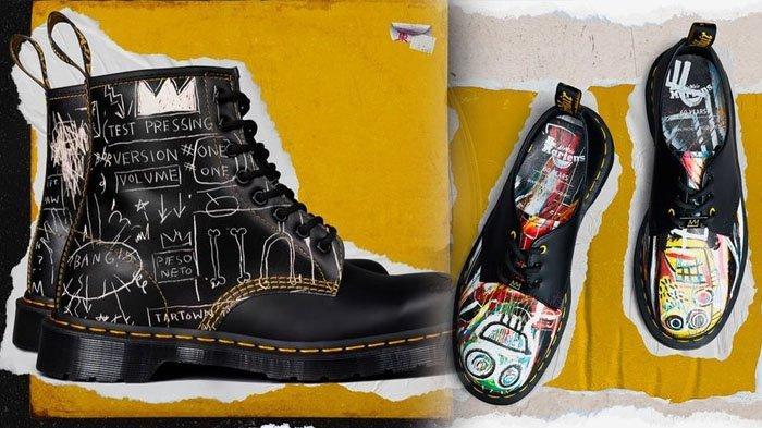 Rilis Hari Ini, Dr. Martens X Jean-Michel Basquiat, Sepatu Boots Bercorak Lukisan Termahal di Dunia