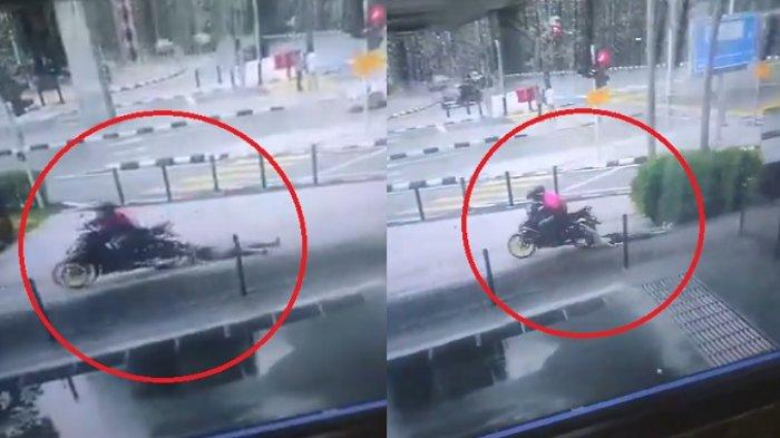 Viral CCTV,  Oknum Driver Ojol Tega Menendang dan Menginjak Wanita Tua Demi Menjambret Dompetnya