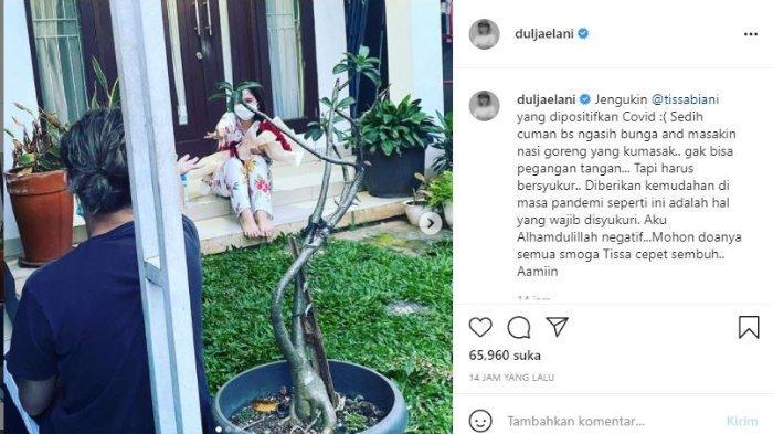 Dul Jaelani jenguk Tissa Biani yang positif covid-19.