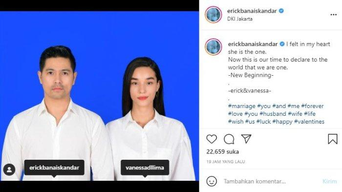 Erick Iskandar dan Vanessa Lima