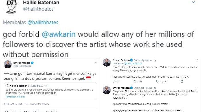 Ernest Prakasa kritik Awkarin karena comot karya orang tanpa izin