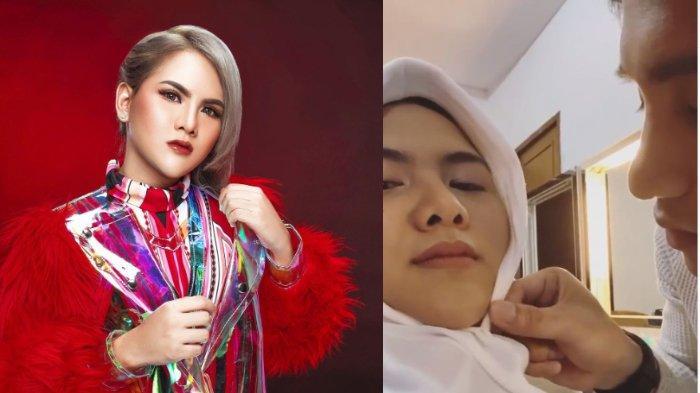 Unggah Video Pakai Hijab Dibantu Sosok Pria Tampan, Evelyn Nada Anjani: 'Makasih Sayang'