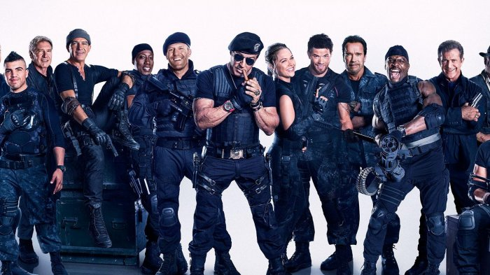 Sylvester Stallone dalam Film The Expendables