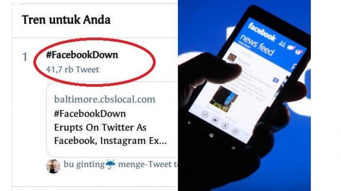 Tagar Facebook Down dan Instagram Down ramai di sosial media. Ada apa?