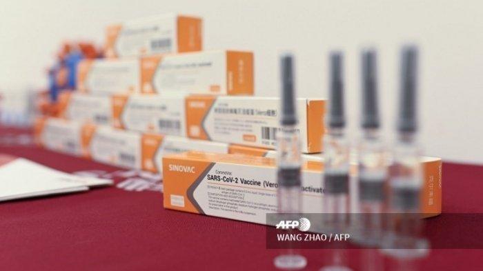 Vaksin corona (Covid-19) dari perusahaan biofarmasi asal China.