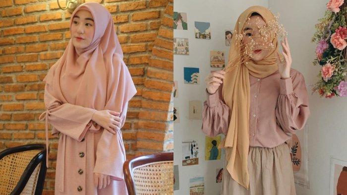 5 OOTD Ala Larissa Chou Penggemar Warna Pastel, Anggun Berhijab dan Tetap Fashionable