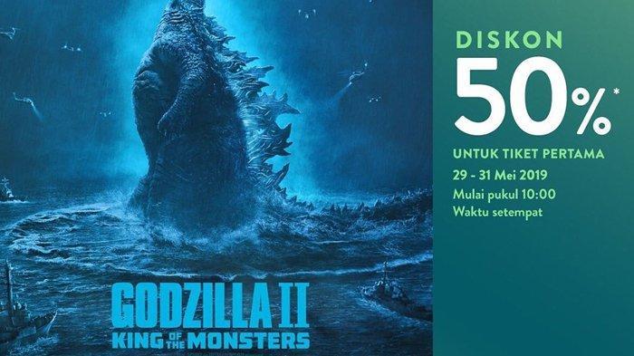 DISKON 50 % Tiket Nonton Film Godzilla: King of The ...