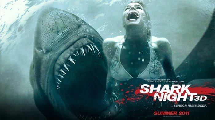 Poster film Shark Night, tayang malam ini di Bioskop Trans TV.