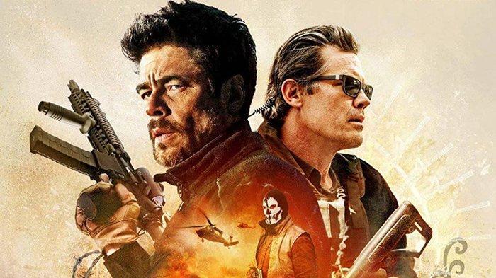 Poster film Sicario: Day of the Soldado, tayang malam ini di Bioskop Trans TV.