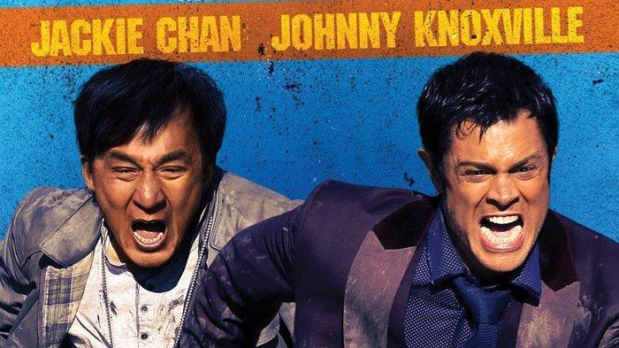 Film Skiptrace dibintangi Jackie Chan dan Johnny Knoxville.