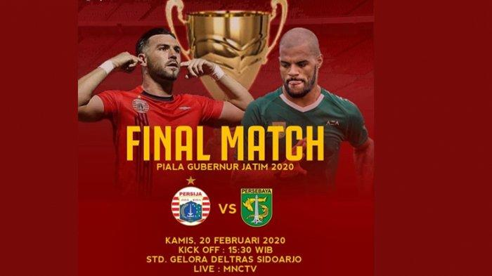 Live Streaming Persebaya Surabaya vs Persija Jakarta Final Piala Gubernur Jatim 2020, 15.30 WIB