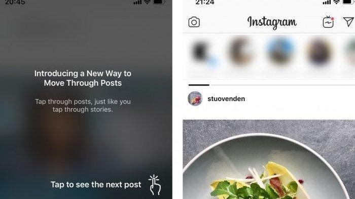 Fitur Baru di Instagram, Ubah Timeline Jadi Geser ke Samping, Gak Lagi Scroll !