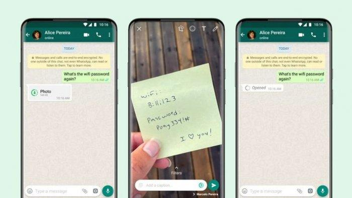 Fitur View Once Whatsapp