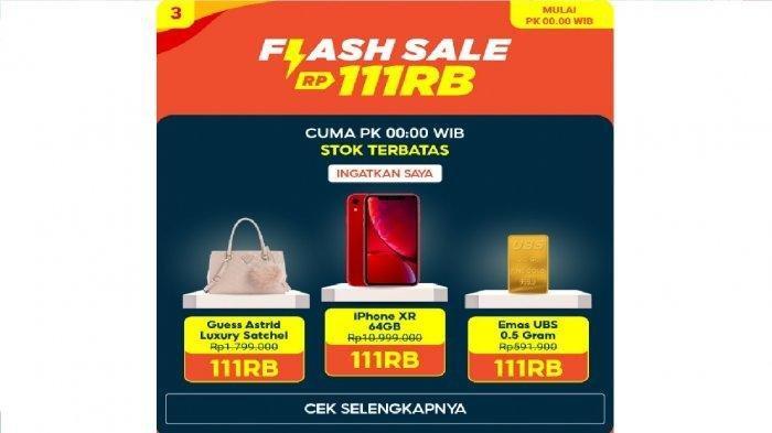 LINK Flash Sale Shopee 11.11 Pukul 00.00 WIB 11 November 2020, iPhone 11 Juta Jadi Rp 111 Ribu